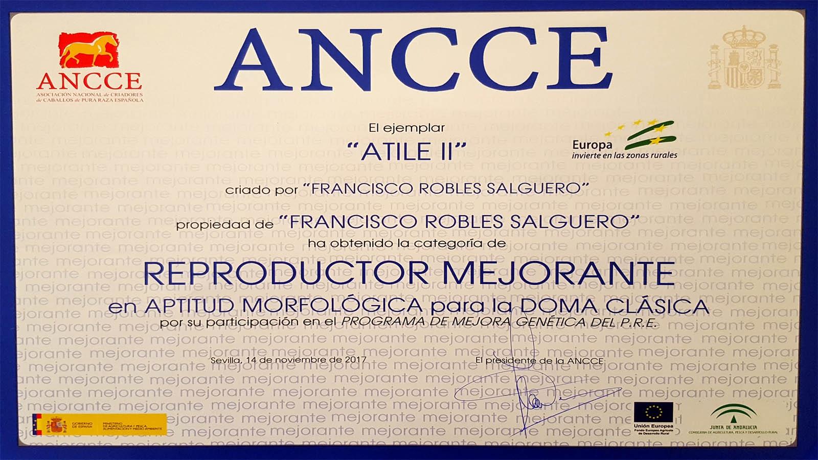 ATILE II obtiene la categoría de Reproductor Mejorante